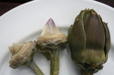Cooking and eating an artichoke