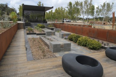 One of the four display gardens
