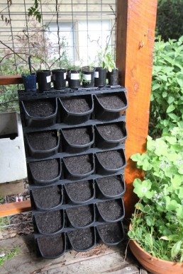 Gro Wall filled with good potting mix