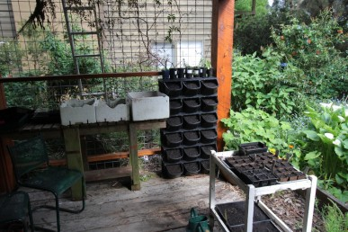 The Gro Wall fits neatly into my seed raising area, taking up very little space
